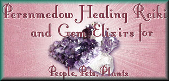 Persnmedow Healing Reiki and Gem Elixirs for people, pets and plants.